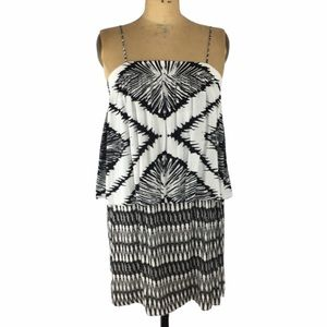 House of Harlow 1960 Aztec Print Tiered Dress